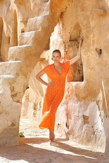 Tunique Rachel Longue Orange